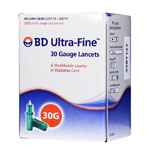 BD Ultra-Fine 30 Gauge  Lancets Box of 100
