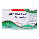 BD Ultra-Fine Nano Pen Needles 32g 5/32 inch Box of 90