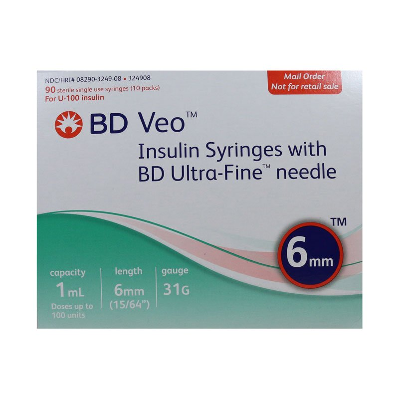 BD Veo Syringes 31g 1cc 6mm 90 Count