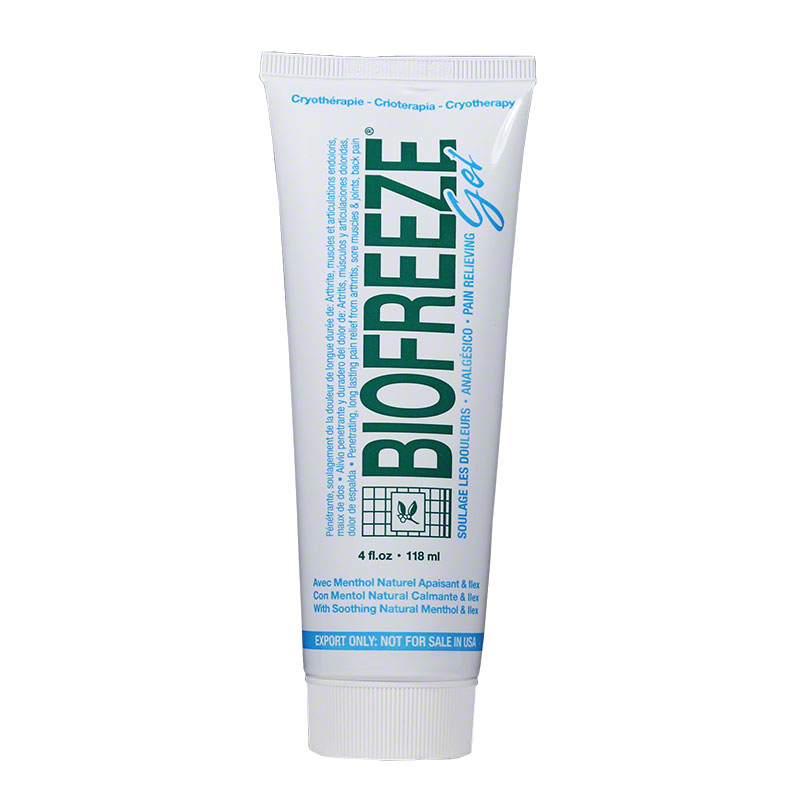 Biofreeze Pain Relieving Gel - 4oz tube Pack of 6