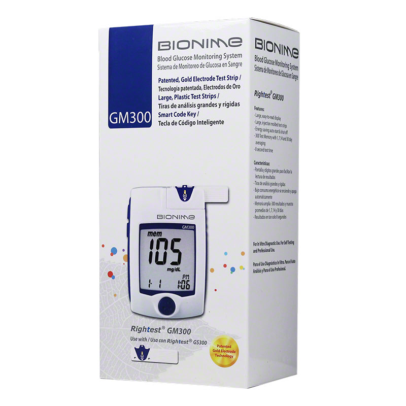 Bionime Rightest GM300 Blood Glucose Monitoring Kit