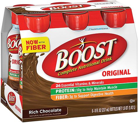 Nestle Boost Original Ready To Drink Rich Chocolate 8oz Case of 24