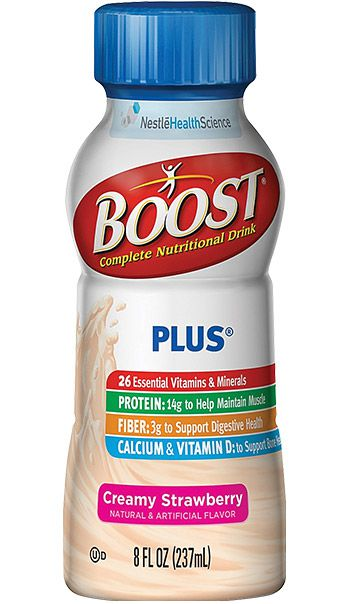 Nestle Boost Plus Nutritional Energy Drink Strawberry 8oz Case of 24