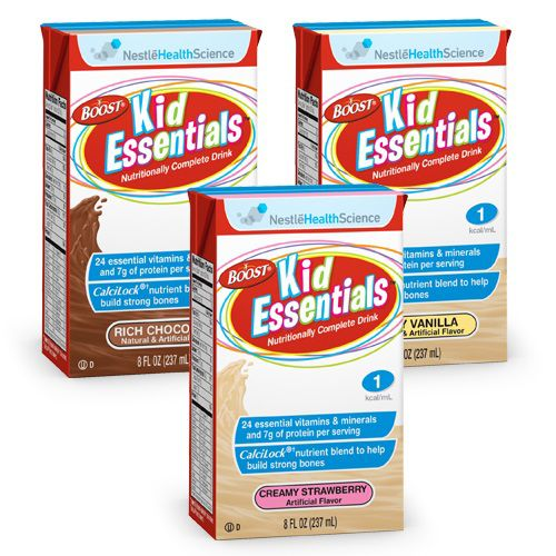 Nestle Boost Kid Essentials 1.0 With Fiber Vanilla 8oz Case of 27
