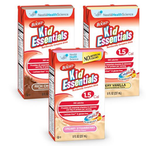 Nestle Boost Kid Essentials 1.5 Chocolate 8oz Case of 27