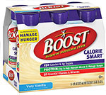 Nestle Boost Calorie Smart Very Vanilla 8oz Case of 24