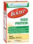 Nestle Boost High Protein Very Vanilla 8oz Case of 27