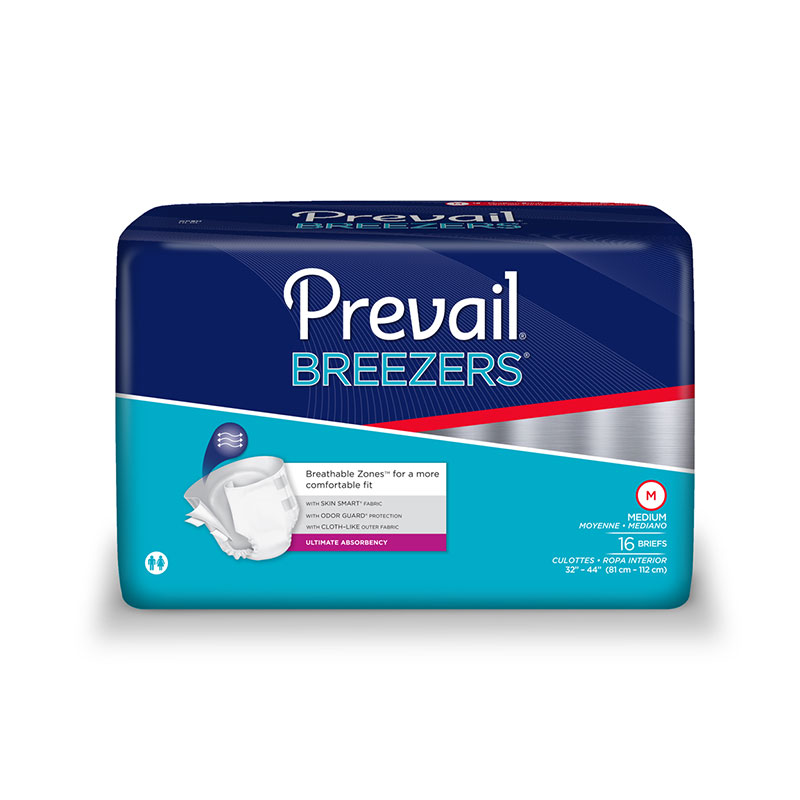 Prevail Breezers Adult Briefs, Medium, PVB0122