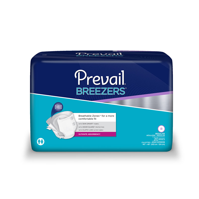 Prevail Breezers Adult Briefs, Regular, PVB016