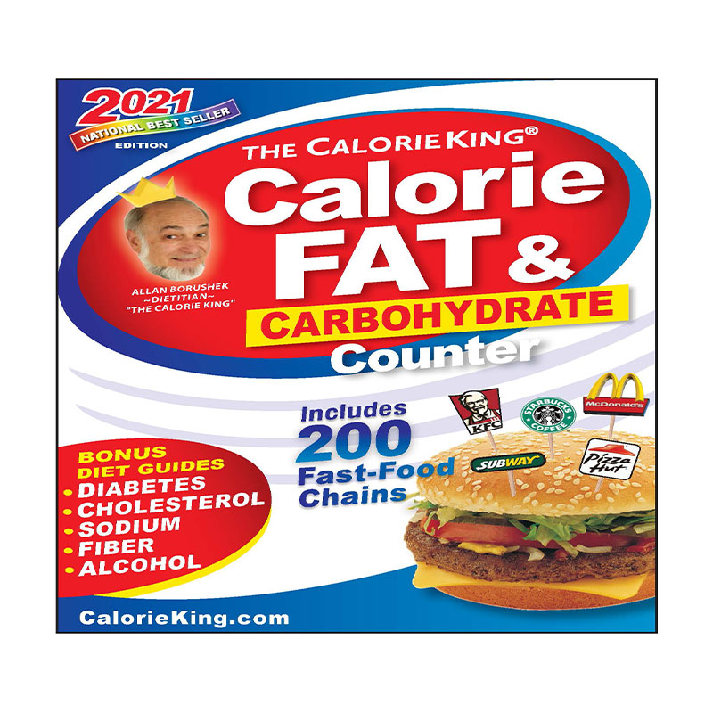 Calorie King Calorie, Fat & Carb Counter 2021 Edition