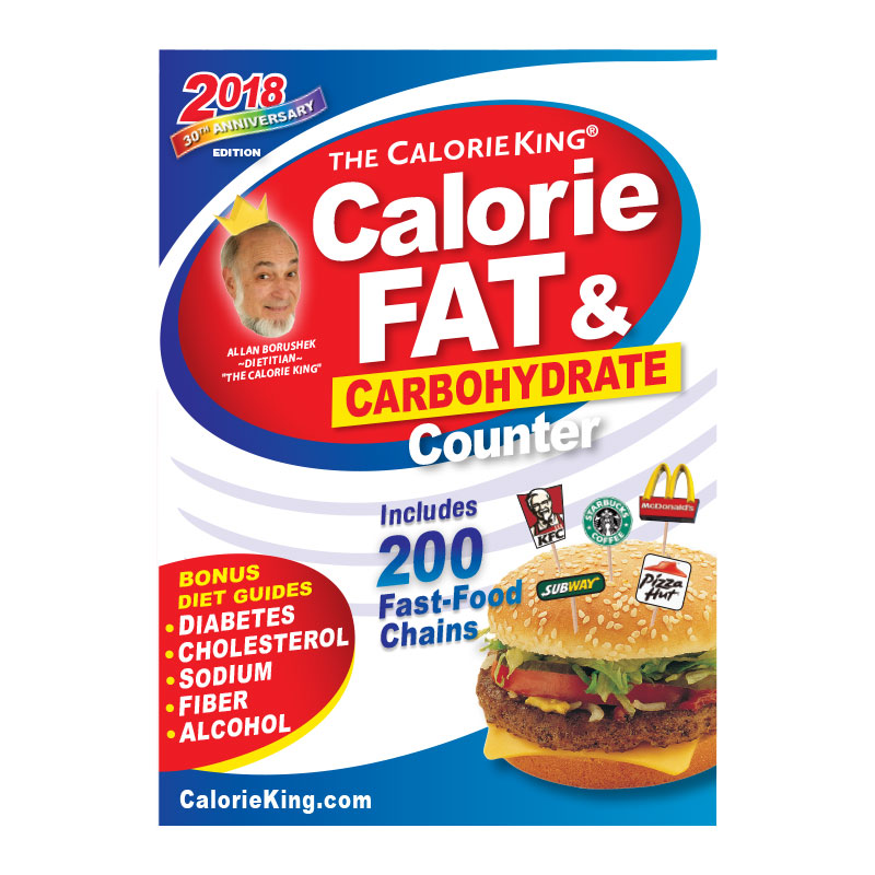 Calorie King Calorie, Fat & Carb Counter 2018 Edition