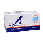 "CarePoint Vet U-40 Pet Syringe 29G 1/2cc 1/2"" 500 Count thumbnail"