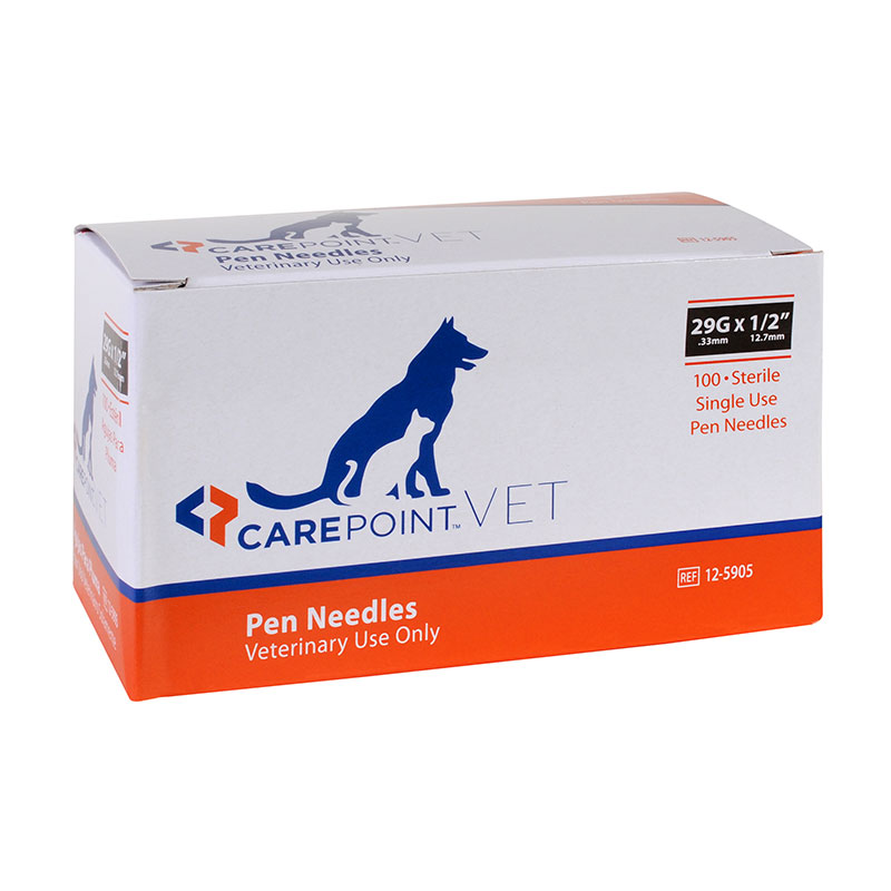 CarePoint Vet Pen Needles 29G 12mm 1200 Count