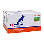 "CarePoint Vet U-100 Pet Syringe 31G 1cc 5/16"" 100/bx thumbnail"