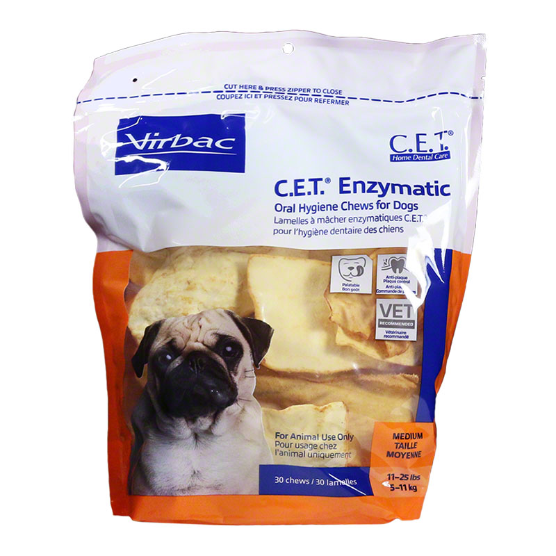 CET Enzymatic Oral Hygiene Chews for Dogs Medium 30/pk Case of 5