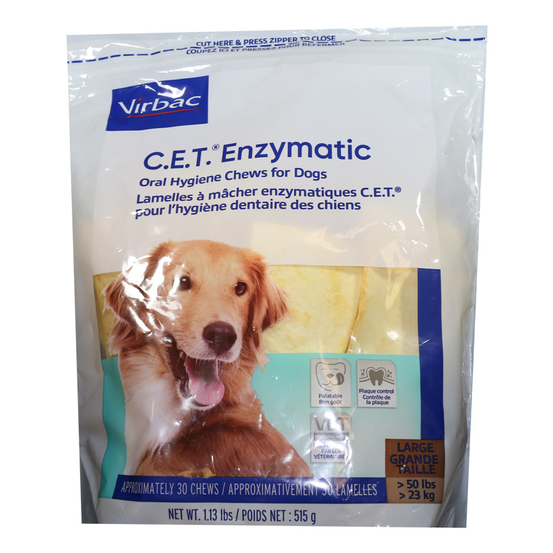CET Enzymatic Oral Hygiene Chews for Dogs 30ct - Large