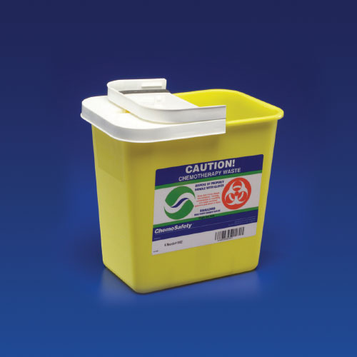 Chemotherapy Container PGII, Hinged Lid, 8 Gallon - Yellow