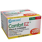 Clever Choice Comfort EZ Insulin Syringes 28G, 1/2cc, 1/2