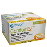 Clever Choice Comfort EZ Insulin Syringes 29G 1/2 cc 1/2