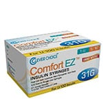 "Clever Choice Comfort EZ Insulin Syringes 31G 1 cc 5/16"" 100/bx - Case of 5 thumbnail"
