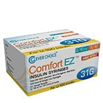 "Clever Choice Comfort EZ Insulin Syringes 31G 3/10 cc 5/16"" 100/bx - Case of 5 thumbnail"