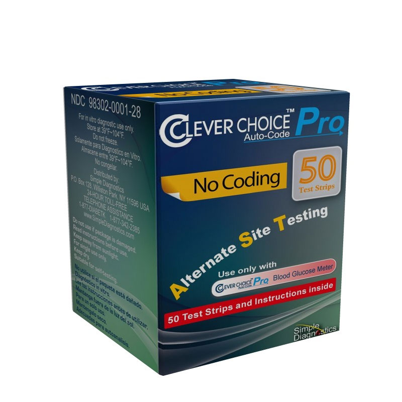 Clever Choice Auto-Code Pro Blood Glucose Test Strips 50/bx