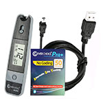 Clever Choice Grey Mini Blood Glucose Meter, 50 strips & Data Cable
