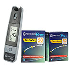 Clever Choice Mini Blood Glucose Meter - Grey w/ 100 strips