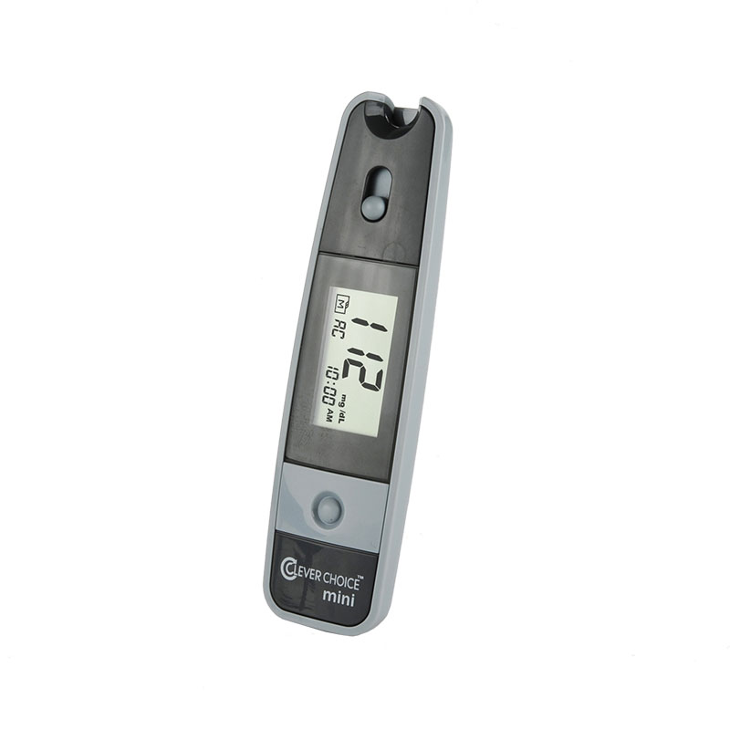 Clever Choice Mini Blood Glucose Meter - Grey