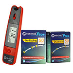Clever Choice Mini Blood Glucose Meter - Red w/ 100 strips