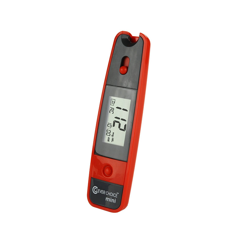 Clever Choice Mini Blood Glucose Meter - Red