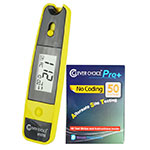 Clever Choice Mini Blood Glucose Meter - Yellow w/ 50 strips