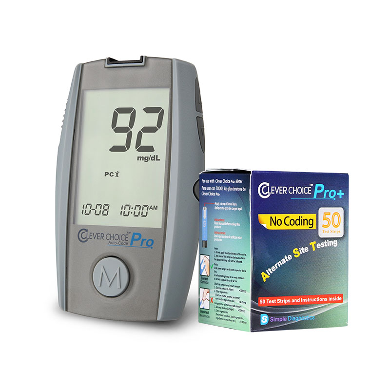 Clever Choice Pro Blood Glucose Meter w/ 50 strips