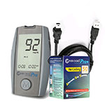 Clever Choice Pro Blood Glucose Meter w/ 50 strips & Data Cable