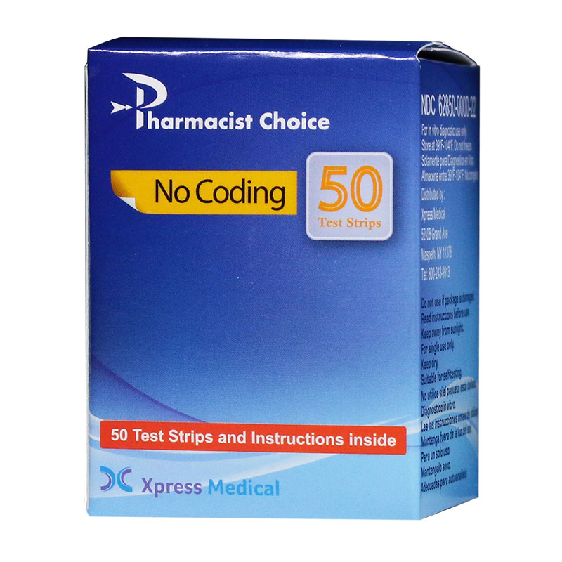 Pharmacist Choice Blood Glucose Test Strips Box of 50