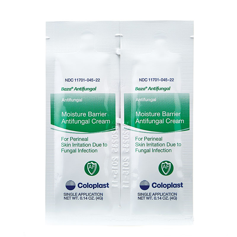 Coloplast Baza Antifungal Moisture Barrier Cream 4gram Single-Use Packets 300/bx