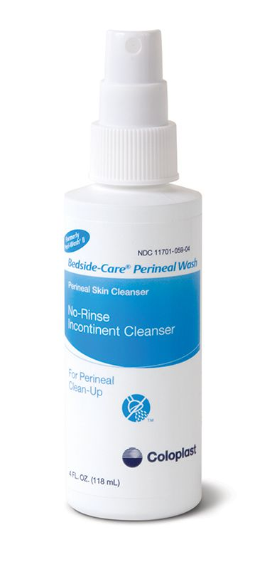 Coloplast Bedside-Care Perineal Wash No-Rinse Incontinent Cleanser 4oz