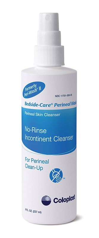 Coloplast Bedside-Care Perineal Wash No-Rinse Incontinent Cleanser 8oz