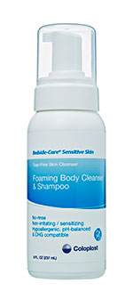Coloplast Bedside-Care Sensitive Skin Foam Wash Shampoo Cleanser 4oz