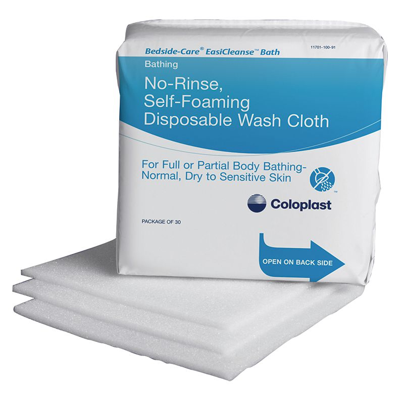 Coloplast Bedside-Care EaiCleanse Bath Disposable Washcloths 30/pk