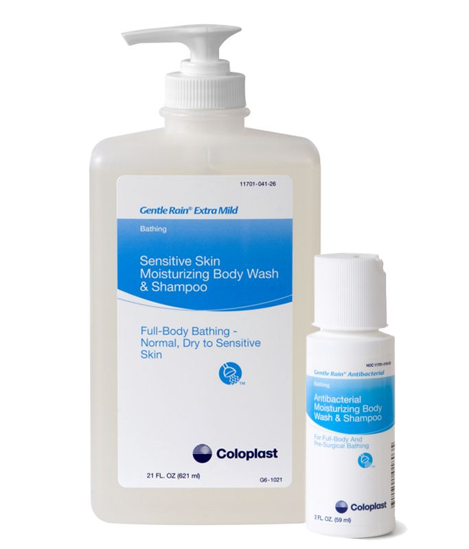 Coloplast Gentle Rain 34oz Antibacterial Shampoo, Body & Hand Wash