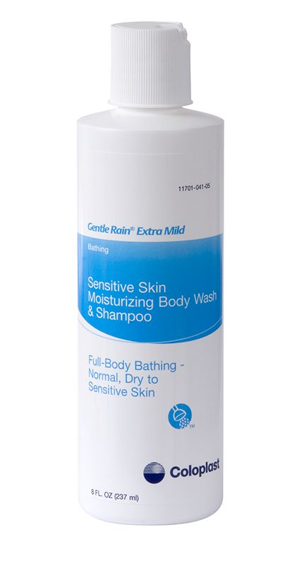Coloplast Gentle Rain Extra Mild Body Wash, Shampoo, & Hand Wash 8oz