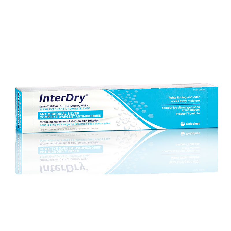 Coloplast InterDry Ag Textile w/Antimicrobial Silver Complex 10