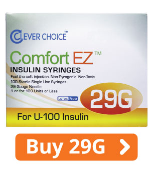 ComfortEZ 29G Insulin Syringes