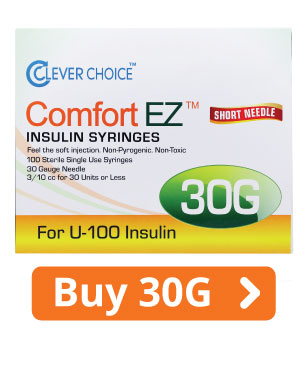 ComfortEZ 30G Insulin Syringes
