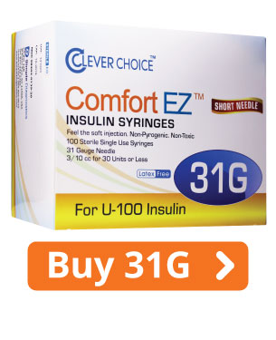 ComfortEZ 31G Insulin Syringes
