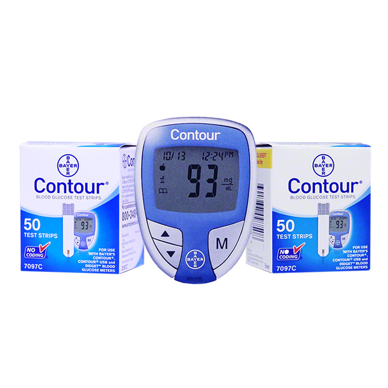 FREE Ascensia Contour Diabetes Meter with the Purchase of 200 strips