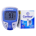 Free Ascensia Contour Diabetes Meter with Purchase of 50 Test Strips