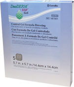 DuoDERM CGF Sterile Dressing - 5.7 inch x 5.7 inch - 187661 - Box of 5