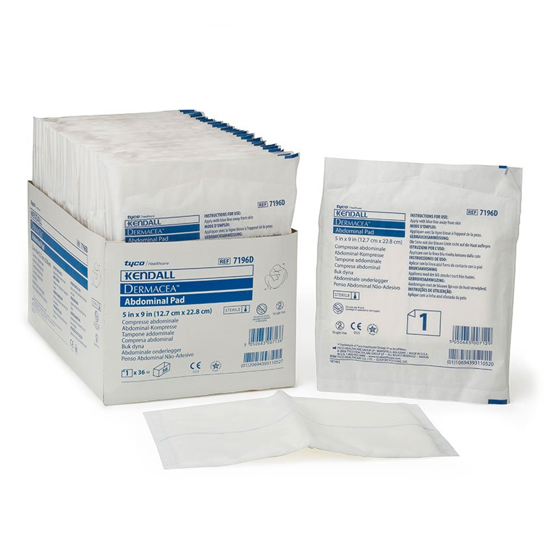 Kendall Curity Sterile Abdominal Pad 5x9